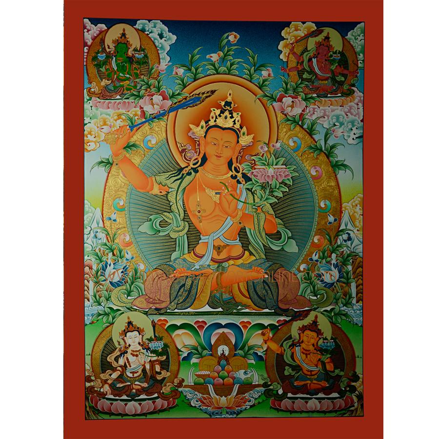 33 5 Quot X 23 5 Quot Manjushiri Thangka Painting Buy 33 5 Quot X 23 5